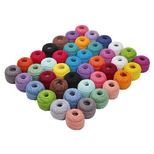 Cotone Uncinetto 42 Filati Cotone Assortimento Colori Cotone Per
