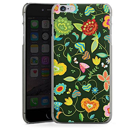 Apple iPhone X Silikon Hülle Case Schutzhülle Bunt Blumen Abstrakt Hard Case anthrazit-klar