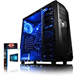 VIBOX Gaming PC - Theta 11 - 4.0GHz AMD FX 4-Core CPU, GT 710 GPU, Budget, Family, Multimedia, Home & Office, Desktop Computer with Game Bundle, Windows 10 OS, Blue Internal Lighting and Lifetime Warranty* (Super Fast AMD FX 4300 Quad 4-Core CPU Processor, Nvidia GeForce GT 710 1GB Dedicated Graphics Card GPU, 8GB DDR3 1600MHz High Speed RAM Memory, 500GB Sata III 7200rpm Hard Drive HDD, 85+ Rated PSU Power Supply, AvP Mamba Micro ATX Gaming Case, AM3+ Motherboard, Blue Fan)
