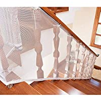 9.8 ft Safe Rail Net for Pet/Kids/Toy, Child Safety Net, Patios, Balcony & Railing Stairs Netting, Sturdy Mesh Fabric Material