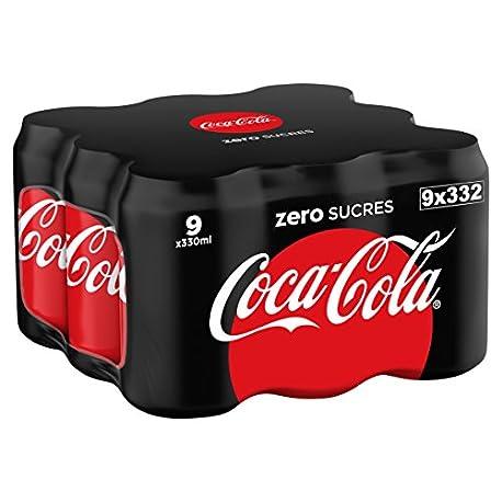 Coca Cola Zero Lata 330 ml Pack de 9