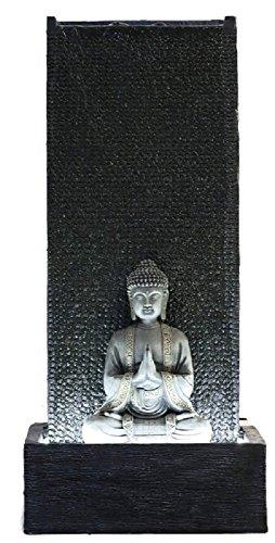 Fontaine de jardin Bouddha avec LED blanche Taille XL 100 cm