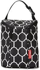 Skip Hop Grab and Go Double Bottle Bag - Onyx Tile (Multicolor)