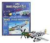 Revell - Maqueta Modelo Set P-51D Mustang, Escala 1:72 (64148)