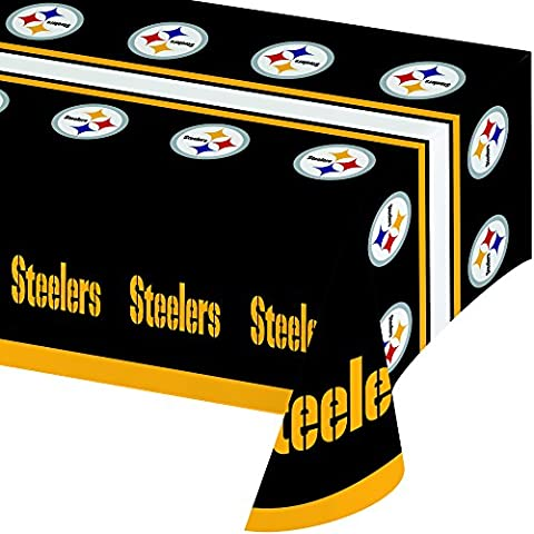 Creative Converting All Over Print Pittsburgh Steelers Plastic Banquet Table Cover