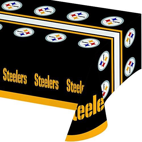 Creative Converting Pittsburgh Steelers NFL-Papierschüsseln, offizielles Lizenzprodukt, 8 Stück, 570 ml Tablecover (Supplies Superbowl Party)