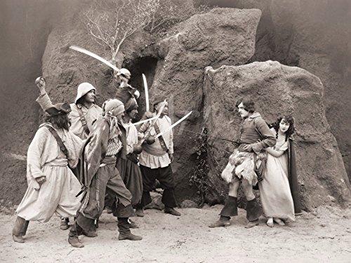 Artland Leinwand auf Keilrahmen oder gerolltes Poster mit Motiv Filmszene Die Abenteuer von Robinson Crusoe, 1922 Film & TV Stars Fotografie Schwarz/Weiß C4WW