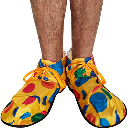 Oversized Multi-Coloured Polka Dot Clown Shoes Fancy Dress Accessory