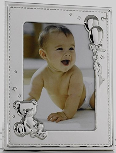 Just Contempo Love You to The Moon and Back Bilderrahmen, Silver Baby Picture Frame, 18 x 12,7 cm