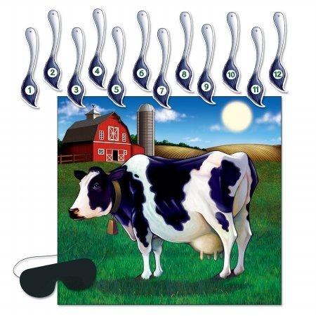 Beistle 66676Pin der Schwanz auf die Kuh Spiel-24Stück (Pin Der Schwanz Spiele)