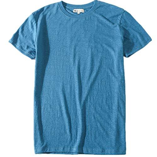 Herr Show Shirt (Hemp Show Herren T-Shirt Gr. L, blau)