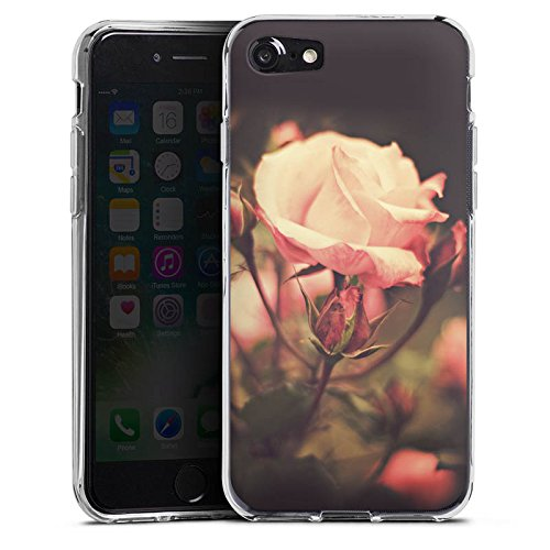 Apple iPhone X Silikon Hülle Case Schutzhülle Rosenblüten Blumen Pflanze Silikon Case transparent