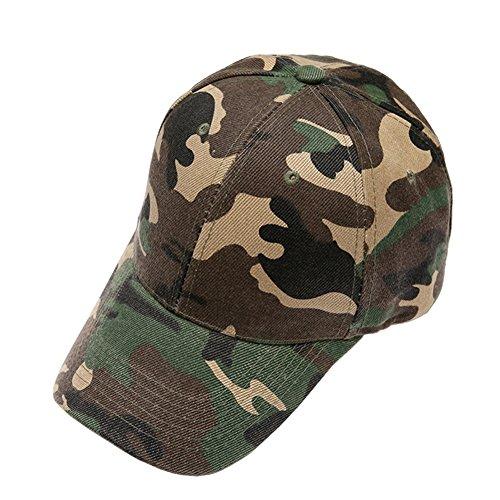 e Militär Tarnung Baseball Kappe Baseballmütze Hut Camo Polo Caps Sporthut For Hunting Fishing Outdoor Activities (Camo Armee Hut Für Erwachsene)