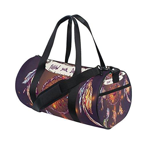 jstel Beautiful Boho Estilo Atrapasueños bolsa de deporte gimnasio para hombres y mujeres bolsa de viaje de viaje