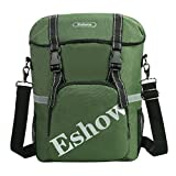 Eshow Waterproof Single Rear Bicycle Pannier Hooks with Handle Strap Bag Green