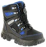 Richter Kinder Winter Stiefel Boots schwarz Sympatex Warm Jungen WMS 7921-831-9901 Black Lagoon Davos, Farbe:schwarz, Größe:39