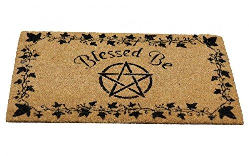 ittelalter Wicca Pagan Hexe Fußmatte Türmatte Fußabtreter Pentagramm Blessed Be (Pagan Hexe Kostüm)