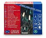 Konstsmide 6004-100 LED Minilichterkette / für Außen (IP44) /  24V Außentrafo / 40 warm weiße Dioden / grünes Kabel
