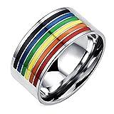 Fengteng Arco Iris de Goma Rayó el Anillo Gay de la Banda Lesbiana Faggotry Homosexual LGBT Orgullo la Joyería del Dedo