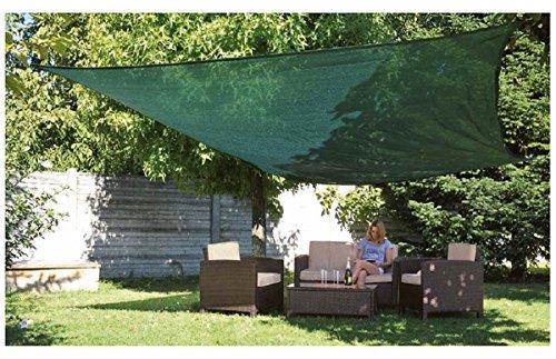 Verdemax 5890 3,6 x 3,6 m à carreaux ombrage net Kit – Vert