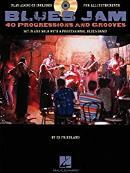 Blues Jam  Forty Progressions And Grooves (Book And Cd) Gtr Book/Cd