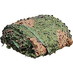 YFF-Bâche Woodland Camouflage en Maille Filet de Camouflage Léger résistant aux UV pour Parasol Camping Tournage Chasse en Plein air Jungle Photographie de décoration