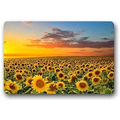 miyvn Teppich Gute qualität Benutzerdefinierte Sonnenuntergang Sonnenblume Dekorative Indoor/Outdoor Decor Teppich Vlies rutschfeste 40X60 cm
