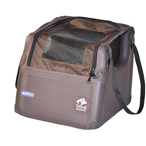 Tami Seatbox - Hundetransportbox aufblasbar Tragebox Transportbox Hundebox Reisebox Autotransportbox Kofferraumbox Gitterbox Käfig Hund Box inflatable Dogbox inkl. Dog-Vital Bio-Hundekeks