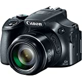Canon PowerShot SX60-HS 16.1MP Advanced Digital Camera (Black) with 65x Optical Zoom with Free USB cable,Free 16GB card inside and Camera case
