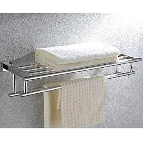 KES A2112 Shelf with Towel Rack Minimalist Stainless Steel Towel