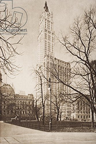 poster-bild-40-x-60-cm-the-woolworth-building-new-york-illustration-from-the-outline-of-history-by-h