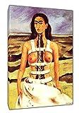 'mit-Sprühfarbe von Frida Kahlo Holz-gerahmt Leinwand Kunstdruck, 16 x 12 inch(40 x 30 cm) -38mm depth