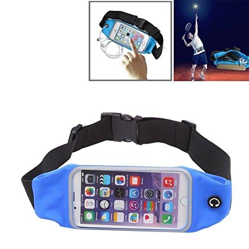 RZL Hüllen & Zubehör wasserdichte Sport-Taillen-Beutel-Beutel mit Kopfhörer-Loch Kompatibel mit iPhone 6 Plus u. 6s Plus (Color : Dark Blue)