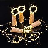9 Stück LED Flaschenlicht, Opard 20 LEDs 2M Lichterkette Flaschenlicht Kork Flaschen Licht LED Lichter für DIY Deko Weihnachten Party Urlaub Stimmungslichter (Warmweiß)