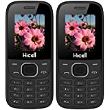 Hicell C1 Fox (Combo Of Two MOBILES) Dual Sim Mobile Phone With Digital Camera And 1.8 Inch Screen (Blackgreen+BlackYellow)