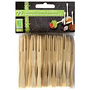 Bamboo cocktail forks small buffet canap bamboo forks for Canape forks