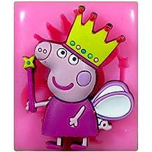 Peppa Pig (hada con la varita) Molde de silicona para la torta de Decoración