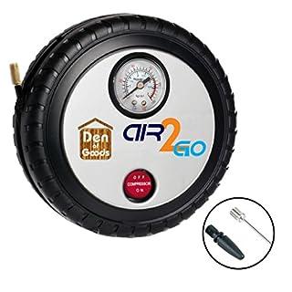 Luftkompressor Reifen Aufblasen - Für Auto-Fahrrad Motorrad - 12V DC Beweglicher Elektrischer Kompressor Auto Schnell Und Einfach Zu Bedienen. Durch Air2Go.
