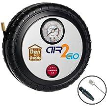 Premium Tire Bomba Inflador de Neumáticos - Para Bicicletas de Coches Moto de bicicletas - Eléctrica 12v DC Auto portátil Compresor de Aire Rápido y Fácil de Usar. Por Air2Go.