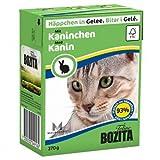 16 x Bozita Cat Tetra Recard Häppchen in Gelee Kaninchen 370g, Nassfutter, Katzenfutter