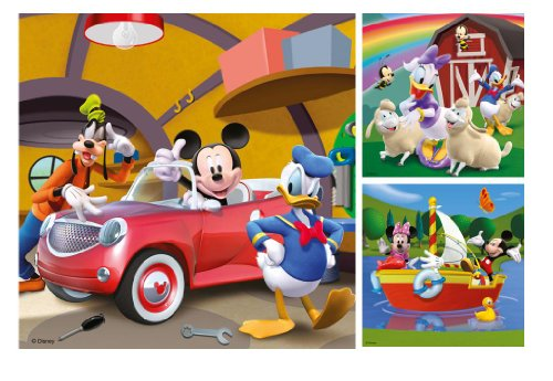Image of Ravensburger Disney Mickey Mouse Clubhouse 3x 49pc Jigsaw Puzzles