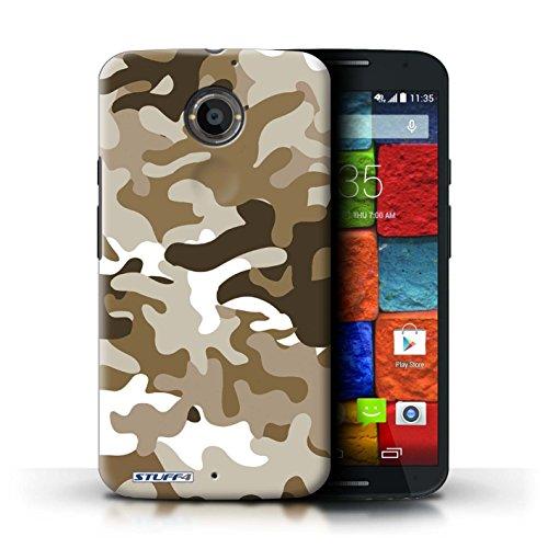 Kobalt® Imprimé Etui / Coque pour Motorola Moto X (2014) / Blanc 3 conception / Série Armée/Camouflage Marron 1