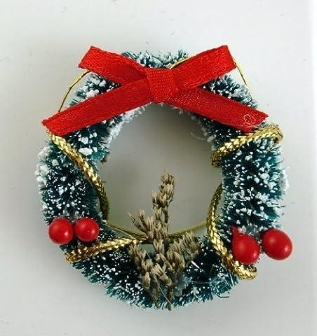 Maison De Poupées Miniature 1:12 Noël Accessoire Décoré Neigeuse Guirlande De Noël