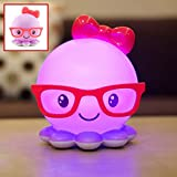 YBK Tech Octopus Lamp USB Rechargeable LED Night Light for Children Toddler (Purple) by YBK Tech