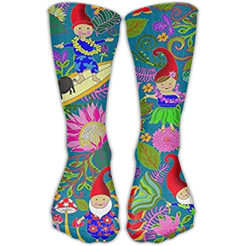 Casual Erwachsene Fußball Fußball Sport Strümpfe Hawaiian Garden Gnomes Crew Compression Girls High Long Socks