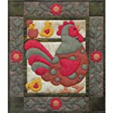"""Spotty Rooster Wall Quilt Kit-13""""X15"""""""