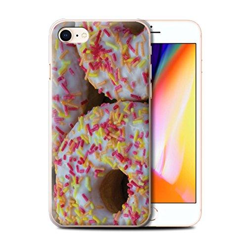 Stuff4 Hülle / Case für Apple iPhone 8 / Marmelade Muster / Schmackhafte Donuts Kollektion Weiß Glasiert