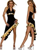 HYW HEI?e Liebe Latin Dance Paar Gold Gold Folie Side Nightclub Public Relations Kleid Set -