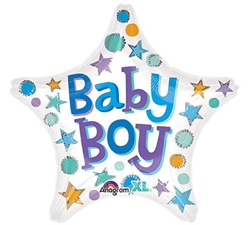 Amscan International 8.544.816,5 cm Baby Boy Star Standard Folie ()