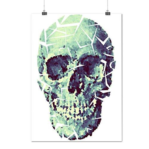 Zerschlagen Glas Schädel Böse Maske Mattes/Glänzende Plakat A4 (30cm x 21cm) | Wellcoda